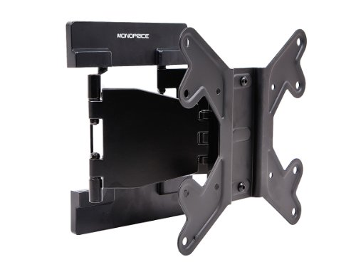 Monoprice Ultra-Slim Full-Motion Articulating TV Wall Mount Bracket - for TVs 23in to 42in Max Weight 66lbs VESA Patterns Up to 200x200 Works with Concrete & Brick, 108678