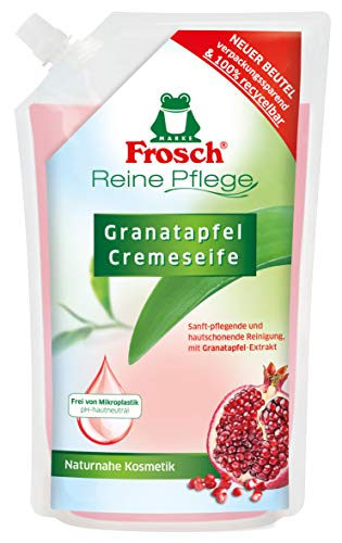 Frosch Reine Pflege Granatapfel Cremeseife, pflegende Handseife zur sanften und hygienischen Reinigung, Nachfüllbeutel, 500 ml, 1er Pack (1 x 500 ml)