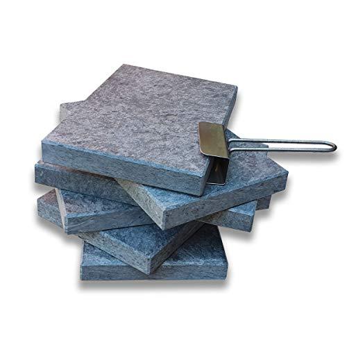 Piedra para Carne de 20x30x3 cm Promoción 6 Unidades mas Levantador