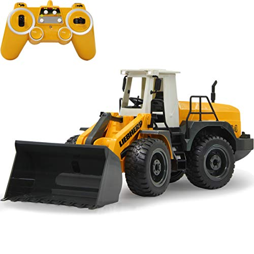 Baustellenfahrzeug ferngesteuert OFFIZIELL LIZENZIERT RC 1:20 (2.4 GHz) Spielzeug Modell Fahrzeug (Liebherr Radlader 564)