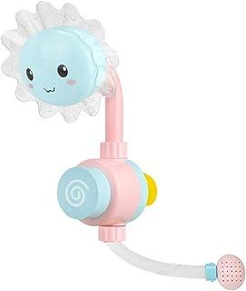 Pulabo encantador girasol bebé ducha grifo grifo agua baño juego rociador juguete baño para niños novedad juguetes azul du...