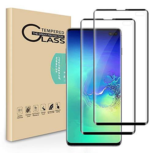 Seinal 3D Full Screen Vetro Temperato 3D per Samsung Galaxy S10 Plus/S10+, 2 pezzi, pellicola protettiva 9H in vetro temperato 3D touch screen