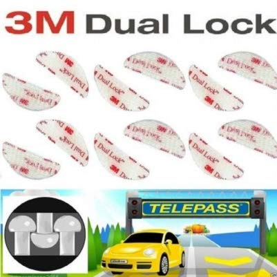 StickersLab - Adesivo Velcro per Fissaggio Telepass Originale 3M Dual Lock (4)