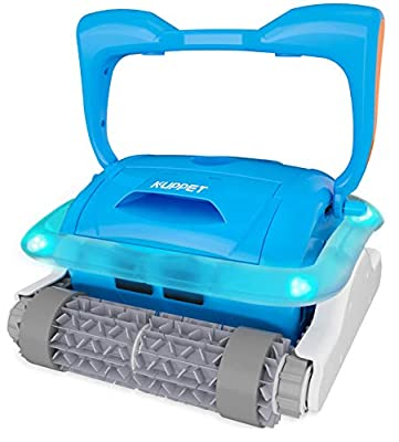 Kenwell Professional Automatic Pool Vacuum Cleaner - Pool Cleaner with Large Filter Basket and Tangle-Free Swivel Cord for Swimming Pool Debris, Cleans Floors, Walls and Steps