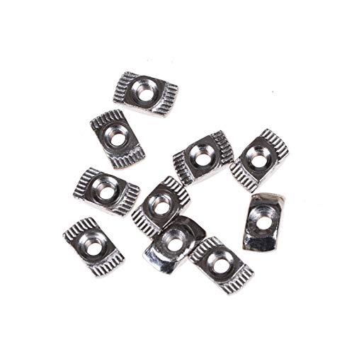 ZXQC 50pcsT Nueces, M3 / M4 / M5, deslizando Las Tuercas, Clavos y Grapas Conectores, 2020 Serie de Plata de Acero al Carbono Sujetadores de Aluminio perfiles de extrusión de Canal (Size : 30 M4)