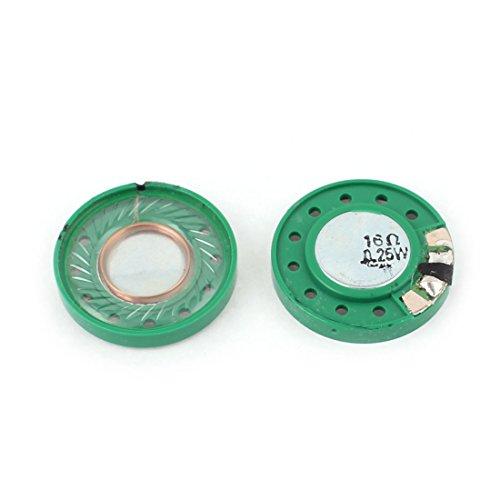 Sourcingmap® 2 Pcs 0,25W Ohm, rund, 29 mm, innen Magnet Elektronisches Lautsprecher-Trompete de