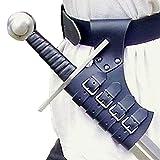 Cinturón del Soporte De La Espada, El Soporte De La Rana De La Vaina De La Vaina De La Cintura De Katana Medieval con La Hebilla De Cuero Funda, Accesorio De Traje De Armas,Negro