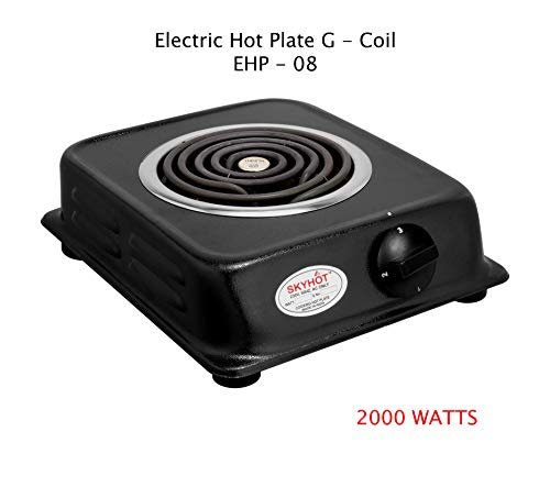 SKYHOT Electric Cooking HOT Plate G-Coil Stove 2000 WATTS (Made...