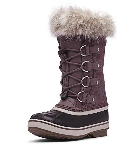 Sorel - Youth Joan of Arctic Waterproof Winter Boot for Kids, Purple Sage, Black, 3 M US