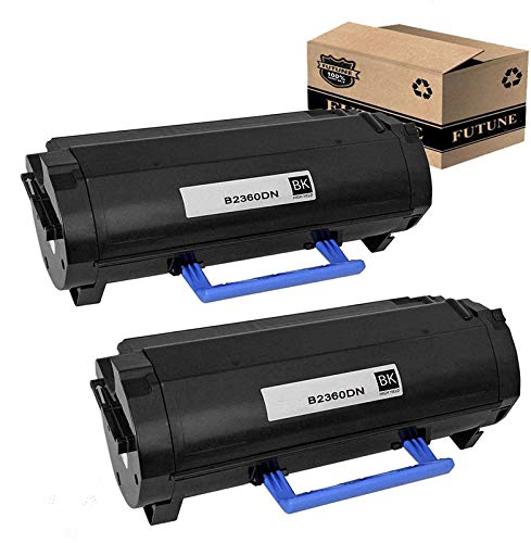 Compatible 2Pk Dell B2360DN M11XH 331-9805 Toner Cartridge Replacement for Dell B2360DN B3465DNF B3460DN B3465DN B2360 Dell 2360 Printers (2 / Black) by FUTUNE