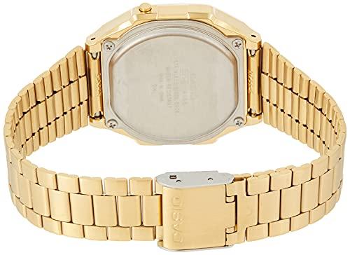 Casio Men's Digital Watch with Stainless Steel Strap A168WG-9WDF
