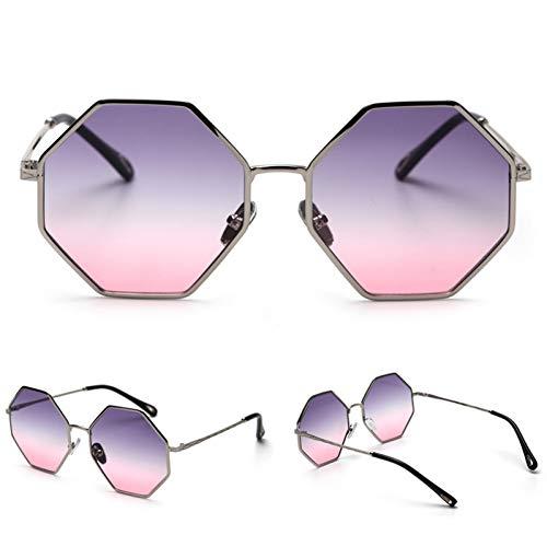 iceBoo Grandi Occhiali da Sole ottagonali da Donna sfumati Occhiali da Sole Oversize poligono retrò UV400