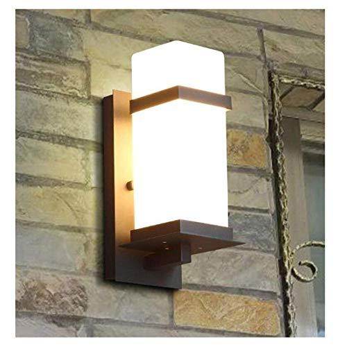 ZHANGYY Lámpara de Pared Aplique Simple Creativo Escalera Exterior Pasillo Jardín Pantalla de Cristal Lámpara de Pared Impermeable para Interiores/Exteriores, Enchufe E27 (tamaño: Altura