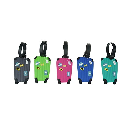 Anter 5PCS Luggage tag - Suitcase Labe - Travel ID Bag Tag (color 1)