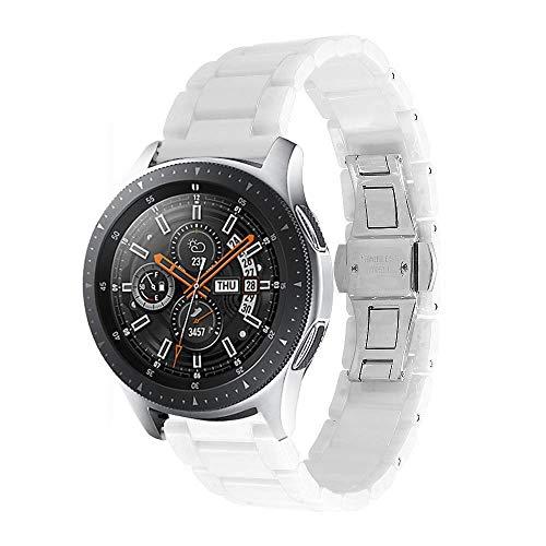 Aottom Correa Compatible con Galaxy Watch 46mm Reloj, Pulsera Cerámica 22mm Correa Samsung Gear S3 Frontier para Mujer y Hombre Reloj para Samsung Galaxy Watch 3 45 mm/Gear S3 Classic