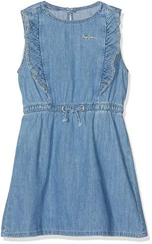 Pepe Jeans Anabella Vestido, Azul (Denim 000), 15-16 años (Talla del Fabricante: 16) para Niñas