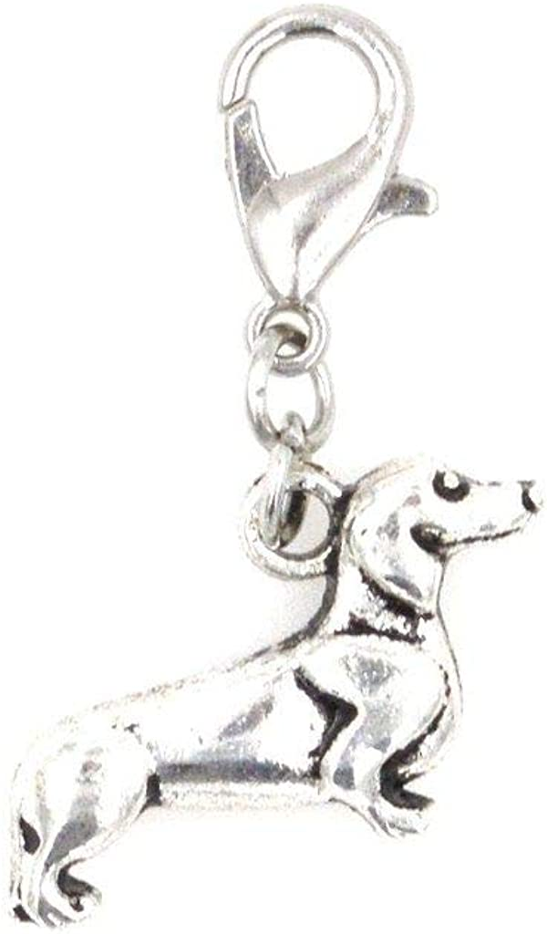 It's All About...You! Dachshund Dog Clip on Charm Perfect for Necklaces and Bracelets 97T