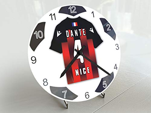 UCL European Club Football-Edition Fußballuhr, klein, Design für alle Teams, Fußball-Uhrwerk !, OGC Nizza