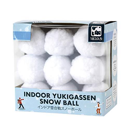 SPICE OF LIFE(スパイス) ゲーム インドア YUKIGASSEN スノーボール18個セット 雪合戦 雪玉 直径7.5cm NMXK3919