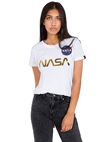 Alpha Industries NASA PM Damen T-Shirt Weiß S