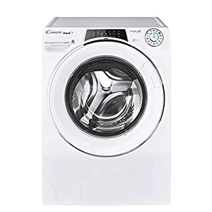 Candy ROW14856DWHC Freestanding Rapido Washer Dryer, WiFi connected, 8kg Load, 1400rpm, White