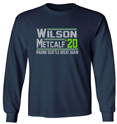 Long Sleeve Navy Seattle Wilson Metcalf 2020 T-Shirt Youth