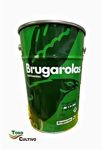 Brugarolas Grasa Besmoly L-220. Envase 5kg. Grasa consistente de Larga duración con bisulfuro de molibdeno. Color Negra.