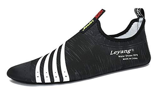 Leyang Womens Mens Kids Water Sport Shoes Beach Quick-Dry Barefoot Aqua Socks for Swim Yoga Aerobics Surf Boys Girls