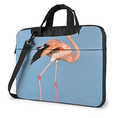 Fla-mingo in Water Ripple Unisex Laptop Bag Messenger Shoulder Bag for Computer Briefcase Carrying Sleeve