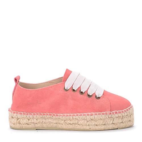 Manebí Sneaker Espadrilles Hamptons Hamptons In Veloursleder Knalliges Rosa