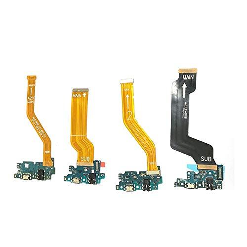 ZHOUZHONGLAN Ajuste principal para Samsung Galaxy A10 A20 A30 A40 A50 A60 A70 A80 A90 puerto USB tarjeta de carga con cable flexible de la placa madre (color: A80)