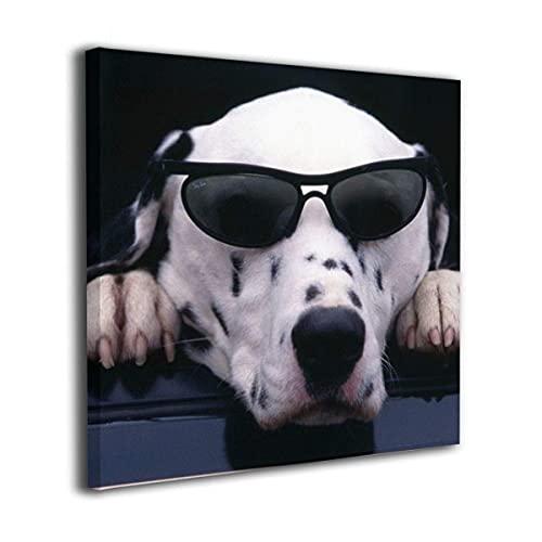 N\A Arte Moderno de la Pared de la Pintura de la Lona La Imagen para la decoración del hogar - Perro Fresco con Gafas de Sol Arte de la Pared sin Marco Impresiones en Lienzo Giclee Listo para Colgar