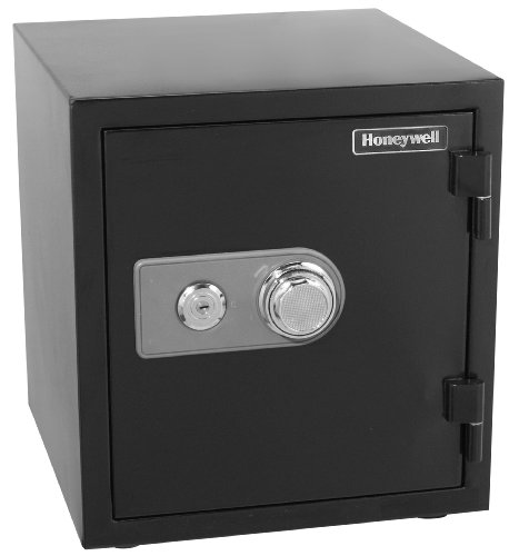 Honeywell Safes & Door Locks - 2105 Steel 2 Hour Fireproof and Water Resistant Security Safe with Dual Dial and Key Lock Protection, 1.23-Cubic Feet, Black