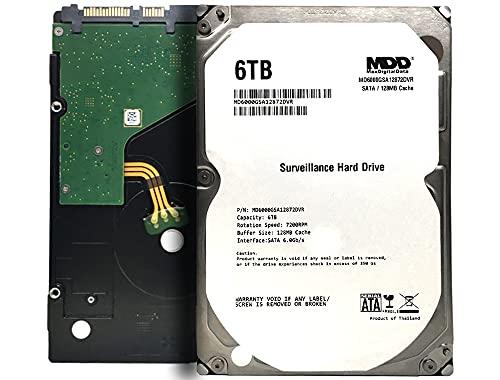 "MaxDigitalData 6TB 7200RPM 128MB Cache SATA 6.0Gb/s 3.5"" Internal Hard Drive for Surveillance (MD6000GSA12872DVR) - 3 Years Warranty"