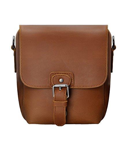 Small Leather Camera Bag ZLYC Vintage DSLR Bag