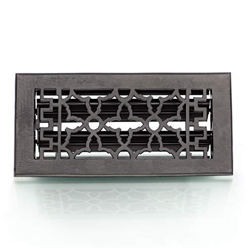 Antikas - Lüftungsgitter regulierbar, Luftgitter für Ofen Kamingitter, in schwarz