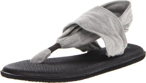 Sanuk Women's Yoga Sling 2 Sandal, Grey, 9 M US