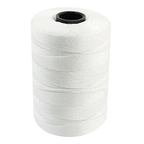 sourcingmap Corde torsadée Nylon 3 rangées de Couture pour Fil Cordon-Blanc - 1 mm de diamètre