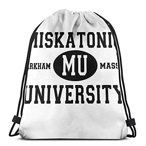 Kordelzug-Taschen Property Miskatonic University Unisex Kordelzug Rucksack Sporttasche Rope Bag Big Bag Drawstring Tote Bag Gym Rucksack in Bulk