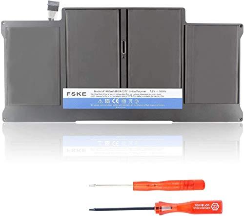 "FSKE® A1377 A1405 A1496 Batería de Repuesto para Macbook Air 13"" A1369 A1466 [Li-Polymer 7.6V 7200mAh]"