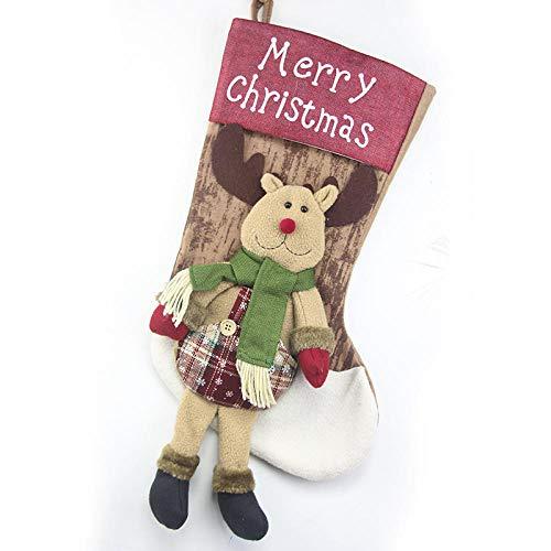 Roshow Christmas Decorations, Christmas Stockings, Big Gift Bags, Christmas Figurines, Old People, Snowmen, Deer Pendants, Christmas Window Ornaments-Three-Dimensional Christmas Deer 55Cm