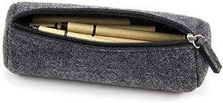 Youngman Fashion Wool Felt Simple Cosmetic Pen Pencil Bag Case Roll-stylish Minimalist Wool Felt Folded Pen Case/pen Holde...