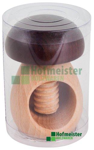 Hofmeister Holzwaren, Nussknacker \'PILZ\', mit Schraubgewinde, aus Buchenholz, geölt, in Röhrenverpackung, L100xD70 mm, 20833