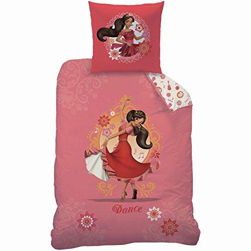 Disney Parure pour Enfant, Coton, Rose, 140x200 cm
