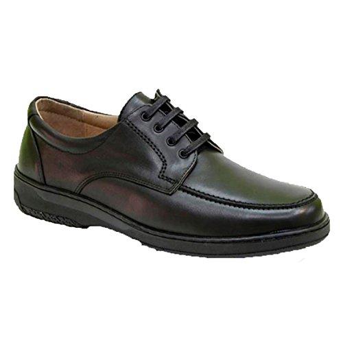 Zapato Cordones Hombre Especial para diabéticos Extra cómodo Primocx en Negro Talla...
