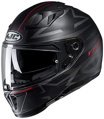 HJC Helmets Unisex– Erwachsene Nc Motorrad Helm, Schwarz/Grau/Rot, XS