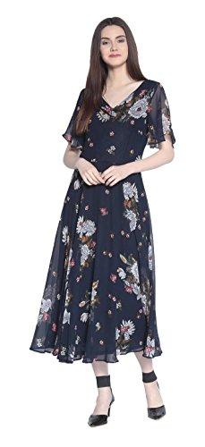 RARE Women's Synthetic a-line Knee-Long Dress
