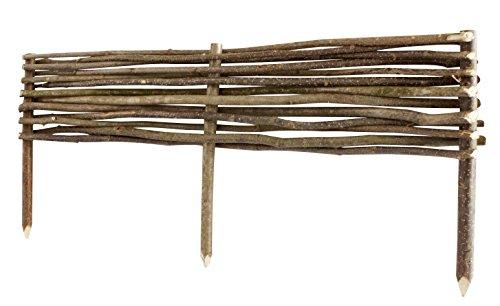 Windhager Haselnuss Beeteinfassung geflochten, Beetbegrenzung Beetumrandung Rasenkante, Braun, 100 x 20/35 cm, 06898