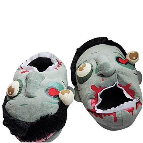 Horror Zombie Zapatillas Felpa Disfraces Halloween