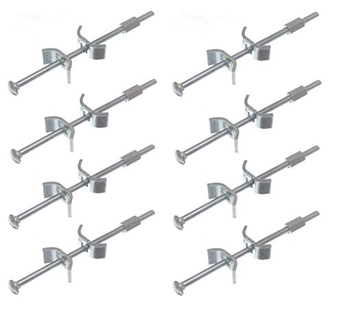 TERF 8 Stück robuste Arbeitsplattenverbinderschrauben M6 x 150 mm Küchenmöbel Verbindungsklemmen Schmetterlingsbolzen für Verbindungsbefestigung und Klemmen